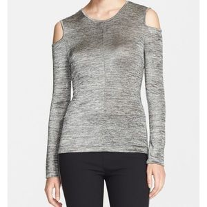 Rag & Bone Cold Shoulder Metallic Top
